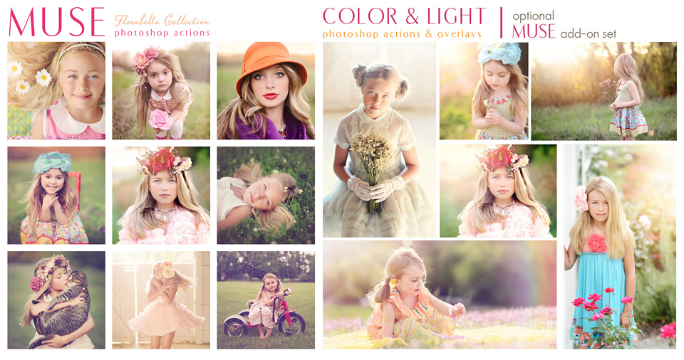 Florabella Muse Photoshop Actions Color and Light Bundle
